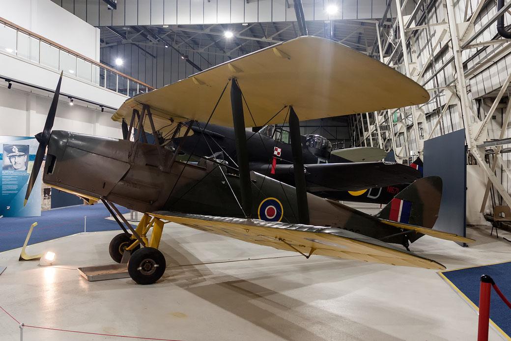 de Havilland Tiger Moth II nella precedente locaton del museo RAF di Hendon