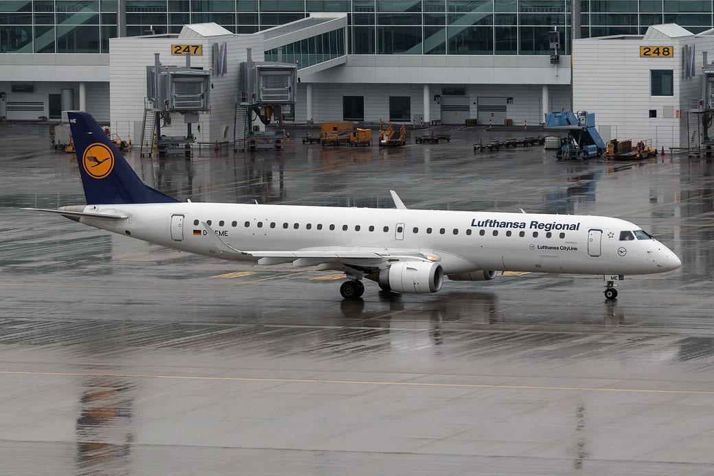 D-AEME Lufthansa Regional (Lufthansa CityLine)  Embraer 195LR (ERJ-190-200LR) prima della nuova colorazione e nuova matricola
