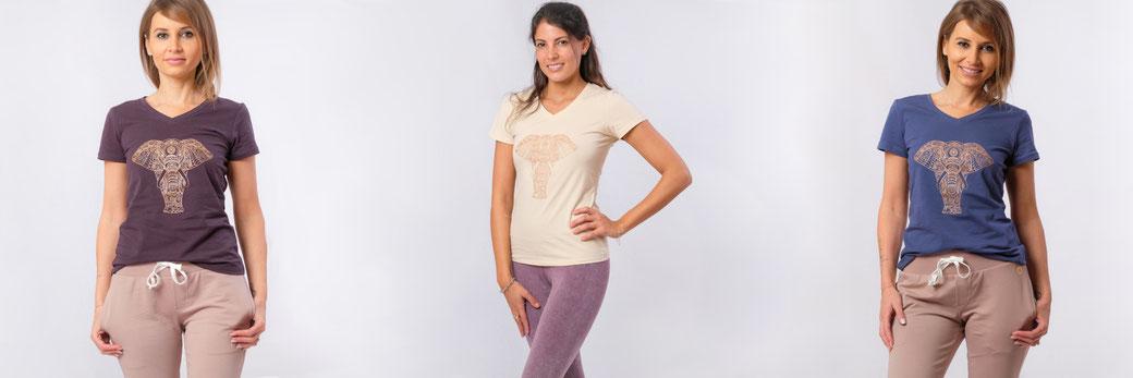Yoga Shirt Baumwolle Ganesh
