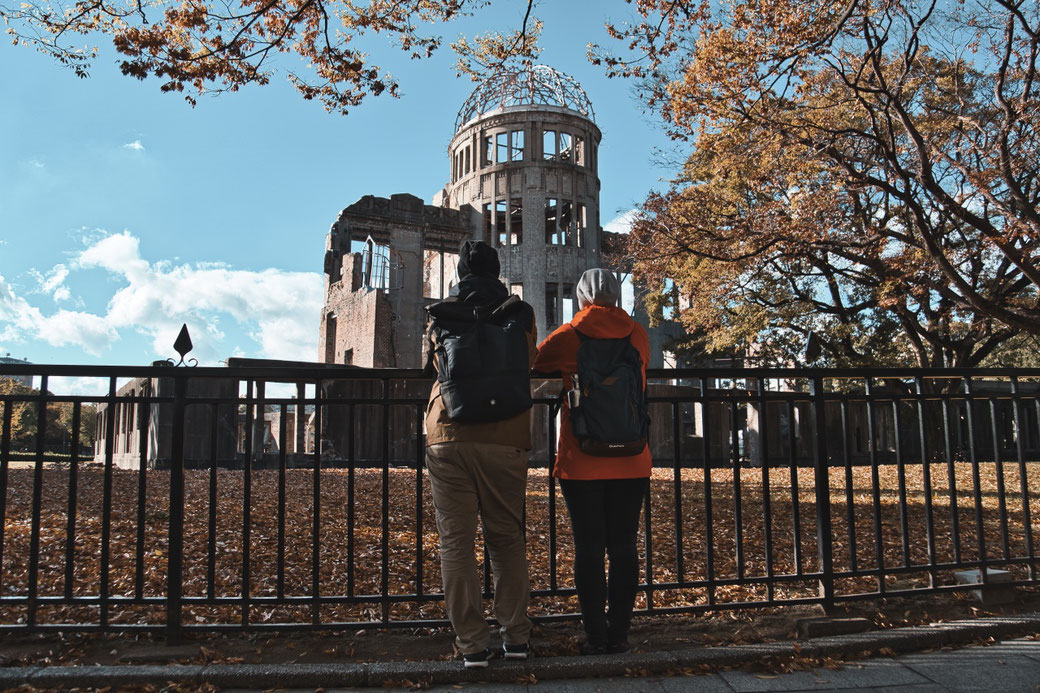 A Bomb Dome im Herbst in Hiroshima
