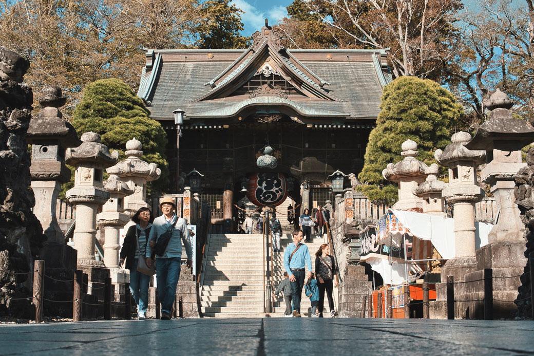 Japanischer Tempel, Treppenaufgang zum Tor