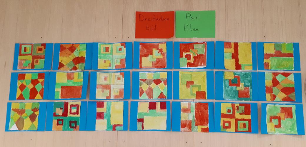 Paul Klee - Dreifarbenbild