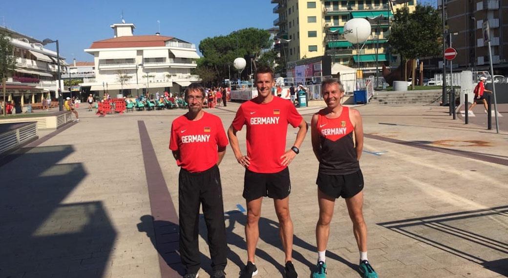 Die drei Bronze-Gewinner der M40- Mannschaftswertung  mit Yves Löbel, Kai Vogler und Jens Wittig. Foto: Alpha-Report
