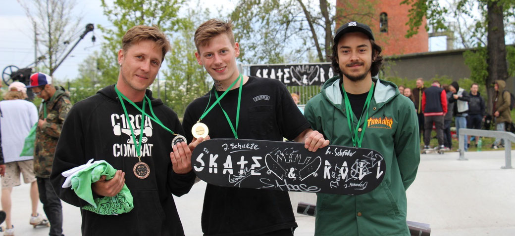 Best Trick 1. Nick (Mitte) 2. Calle(links) 3. Tekken (rechts)