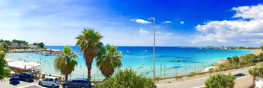 Mare antistante Villa Baia Azzurra • The sea in front of Villa Baia Azzurra