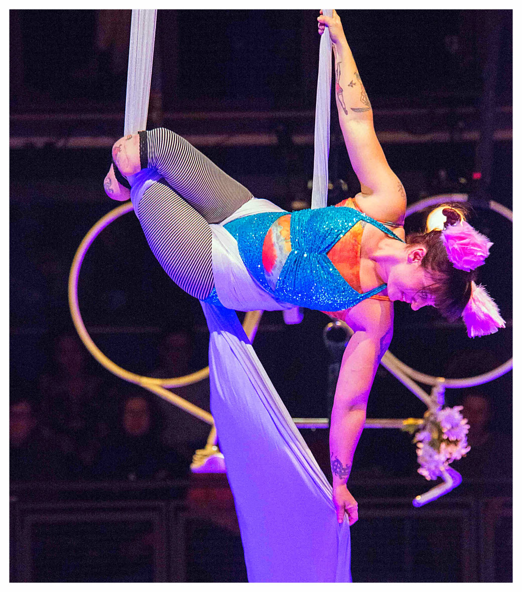 Erin Ball, a double amputee aerial artist from Canada (photo courtesy of Erin Ball)