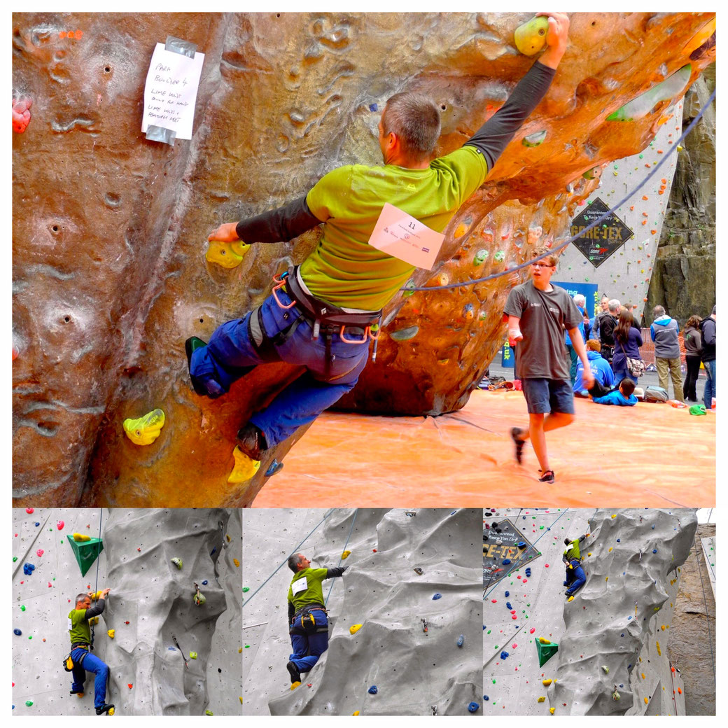 Bjoern Eser during the ParaClimb series in Edinburgh