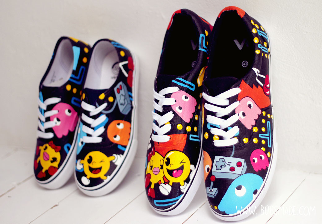 pacman shoes by bobsmade