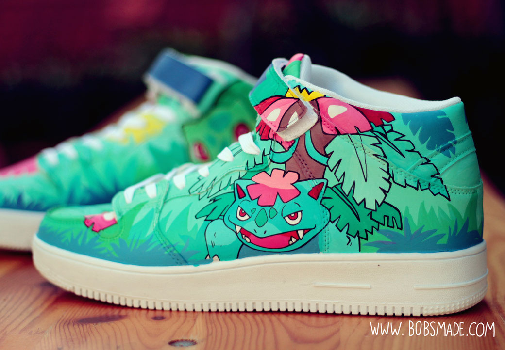 Bulbasaur shoes by bobsmade