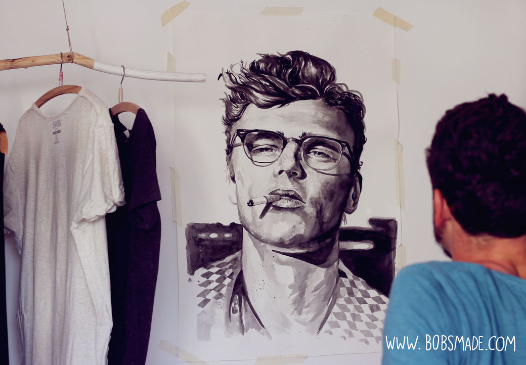 James Dean Painting by bobsmade