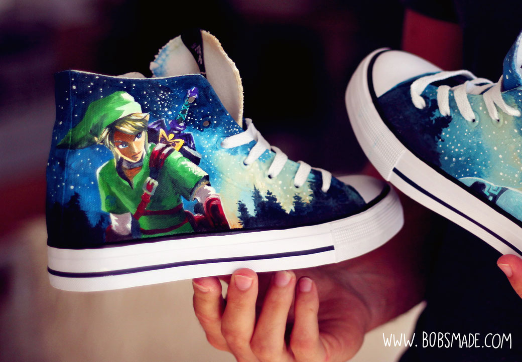 Link Zelda Chucks by bobsmade