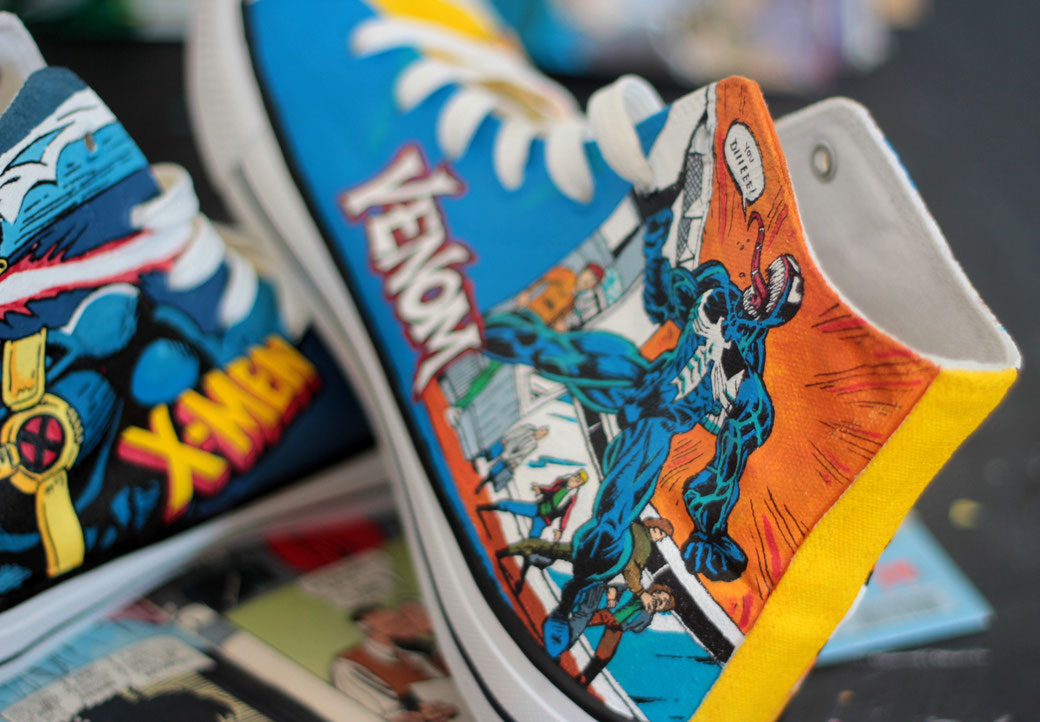 Marvel Comic shoes - VENOM by bobsmad
