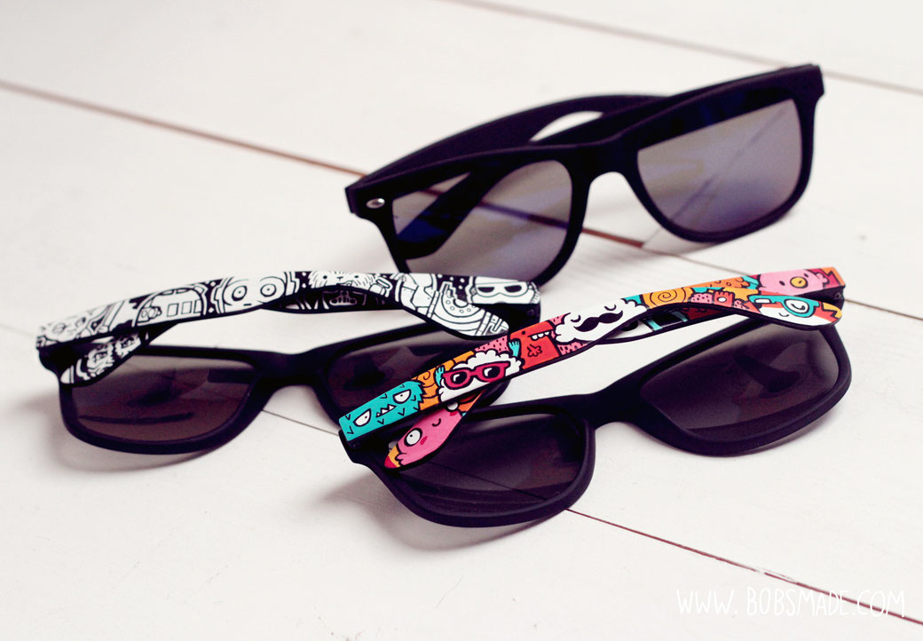 custom painted sunglasses by bobsmade