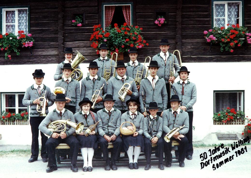 50 Jahre Dorfmusik Wölting 1981