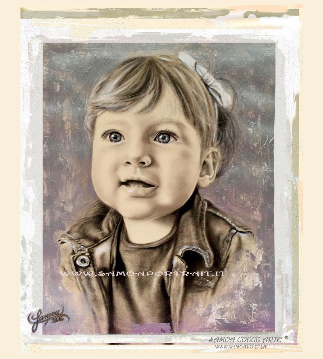 RITRATTO GLORIA - TECNICA MISTA su Carta  45x50 cm - 2016