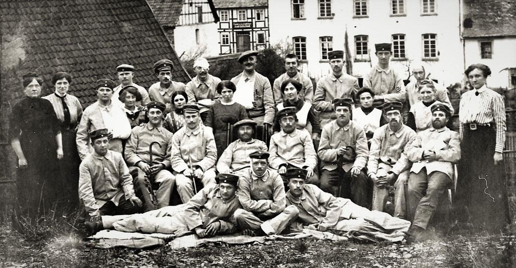 November 1914: Verwundete Soldaten im Esloher Lazarett