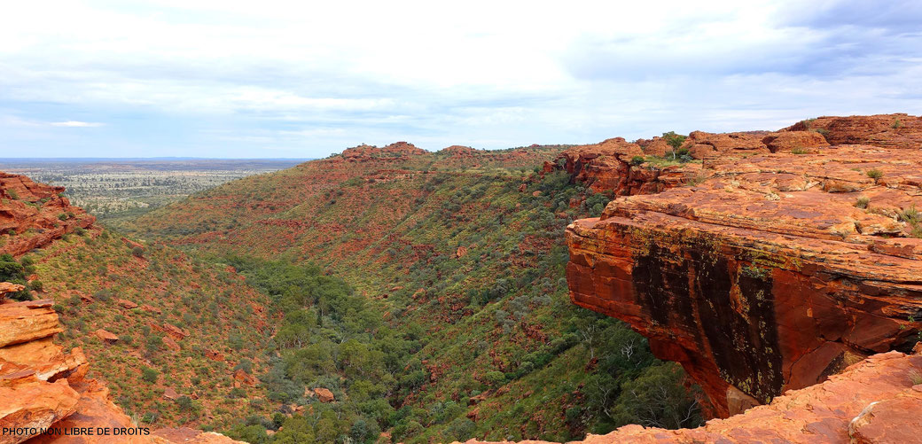 Border Line, Kings Canyon, Australie, photo non libre de droits