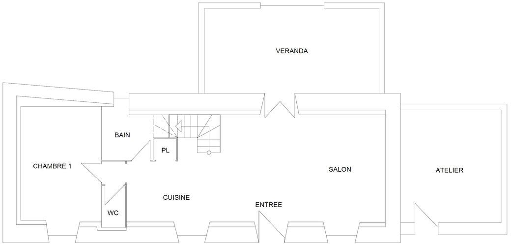 Plan de construction du rez-de-chaussée