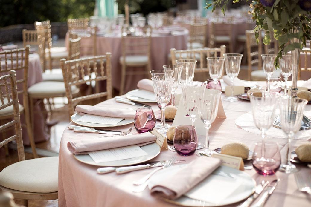 table décorée pour mariage