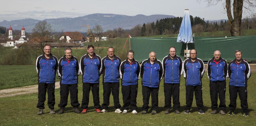 V.l.n.r.: Martin Aeschbach, Otto Hasler, Matthias Peter, Thomas Wälchli, Brigitte Lanz, Kurt Uhlmann, Ernst Jordi, Rolf Wüthrich, Ernst Uhlmann, Urs Wälchli.