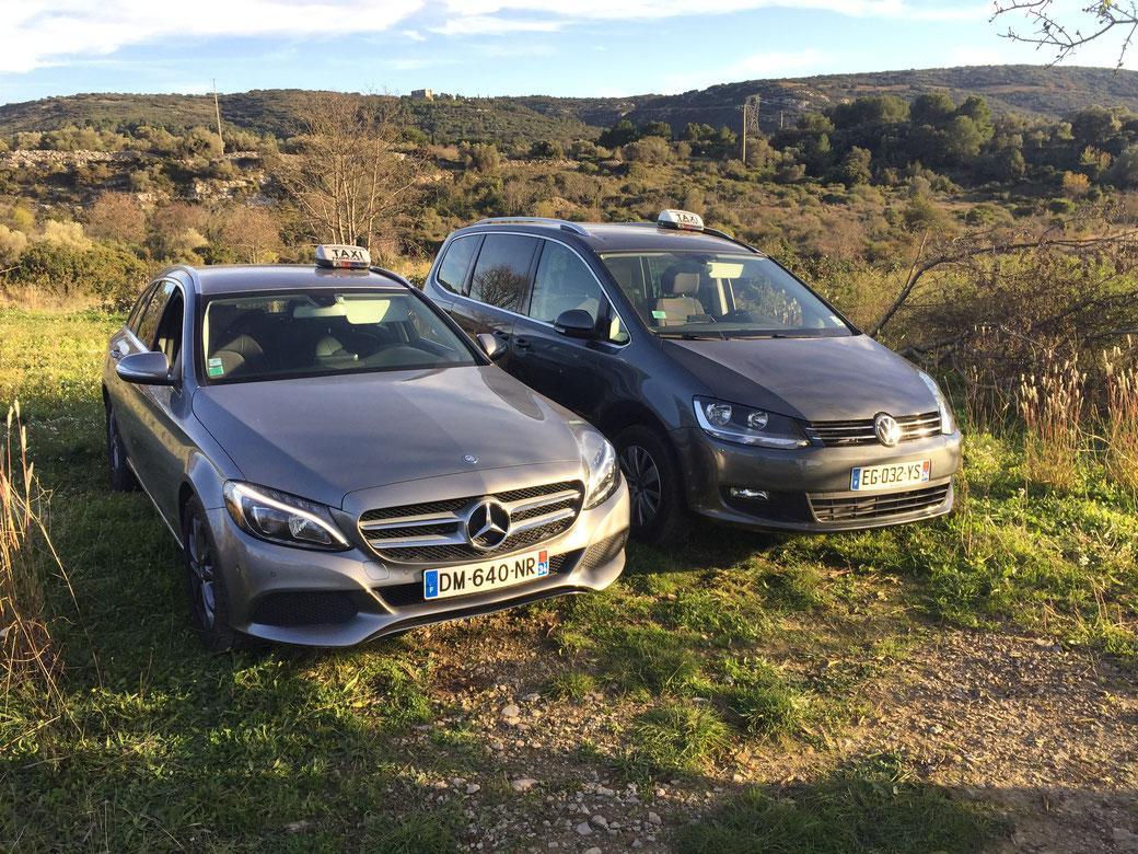 Nos véhicules: Mercedes classe C et Wolksvagen Sharan