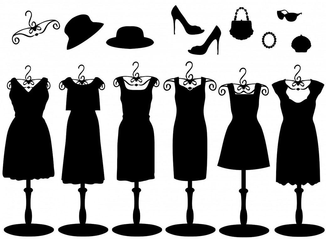 Verschillende soorten jurkjes en accessoires.