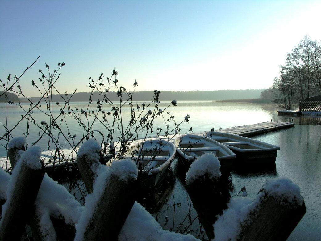auch im Winter kann man einen schönen Angelurlaub in Templin, Uckermark, Schorfheide, Brandenburg verbringen