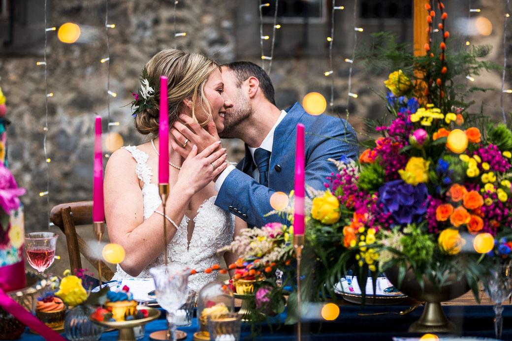 Hochzeitspaar romantisch Sommerhochzeit