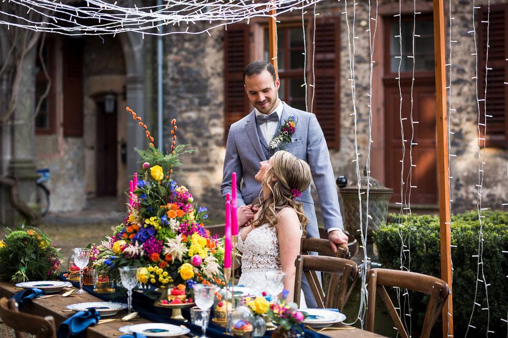 Hochzeitspaar Heiraten im Schloss