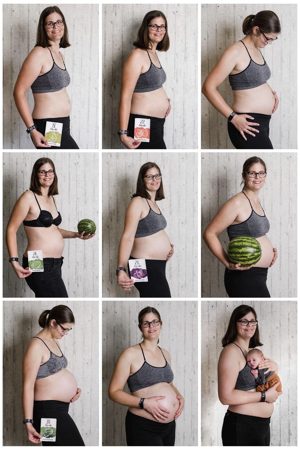 Schwangerschaft Babybauch Reportrage  Fotografie in Fernwald / Gießen