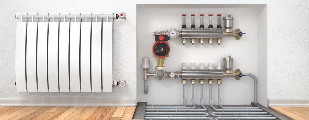Dsembouage chauffage sur plancher chauffant et radiateurs