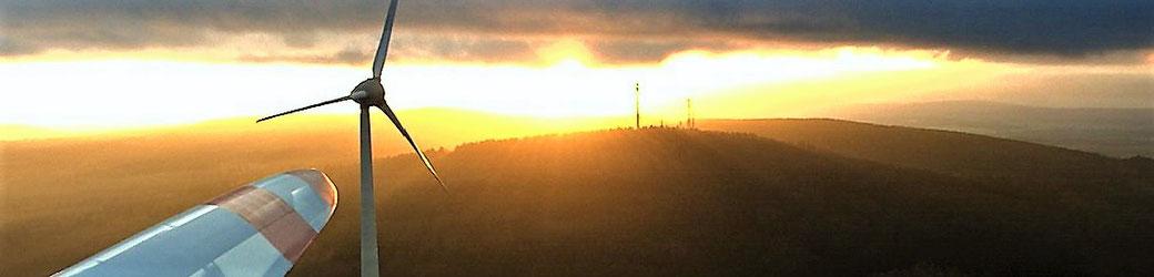 Leben mit der Energiewende TV - Sonnenuntergang bei Ellern im Hunsrück