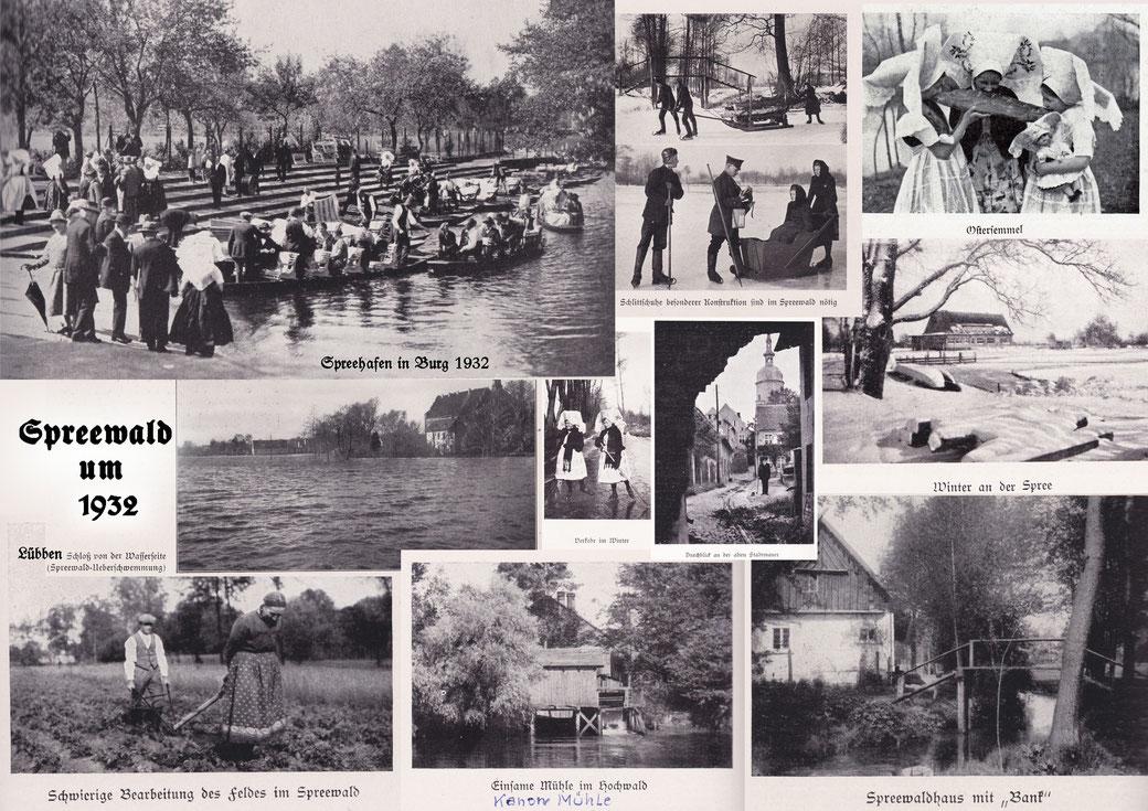 Spreewaldfotos von 1932 und davor