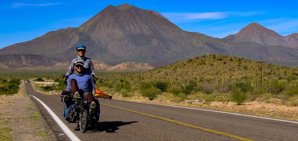 route de baja california avec vélo pino