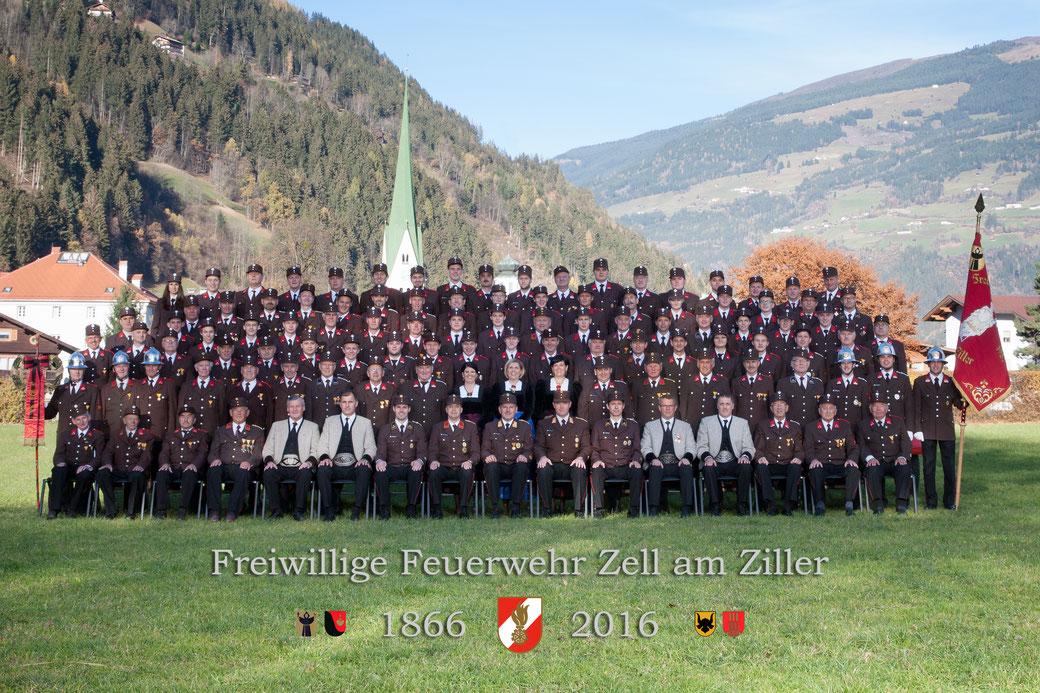 Mannschaftsfoto FF Zell am Ziller