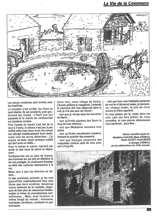 Le petit journal de Vigneux de Bretagne, 1996.