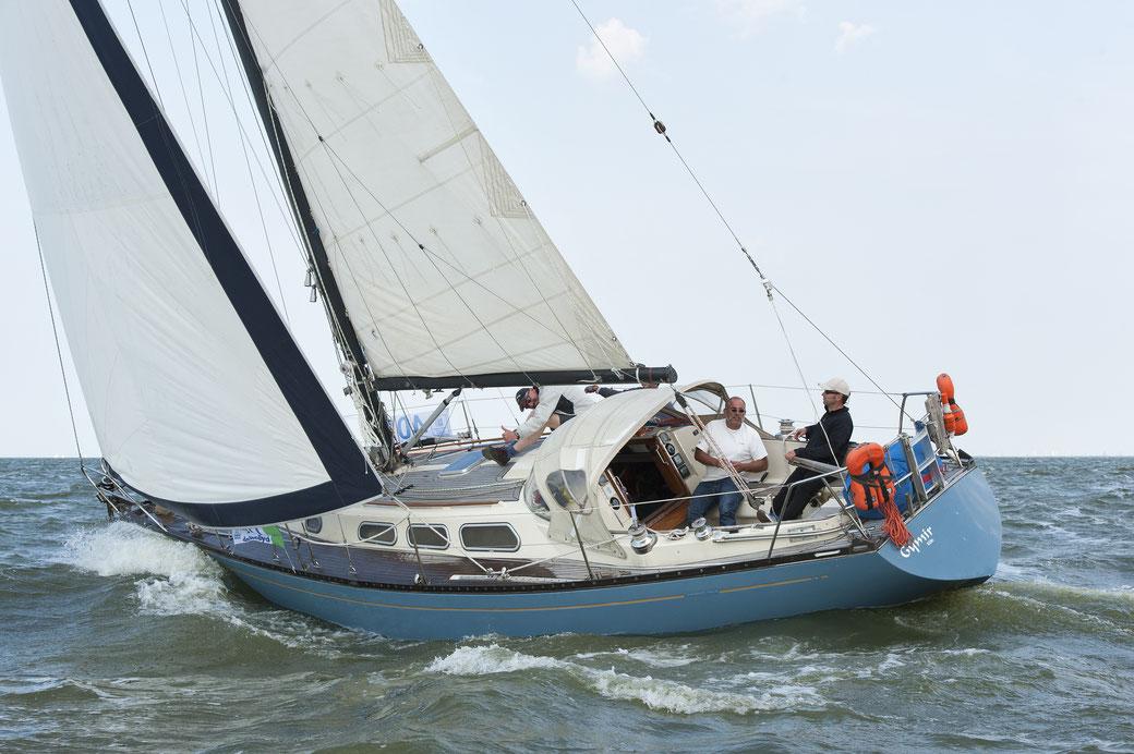 08/2016: Gymir im Schlußsprint vor Medemblik bei der 24-Stunden Regatta auf dem IJsselmeer.