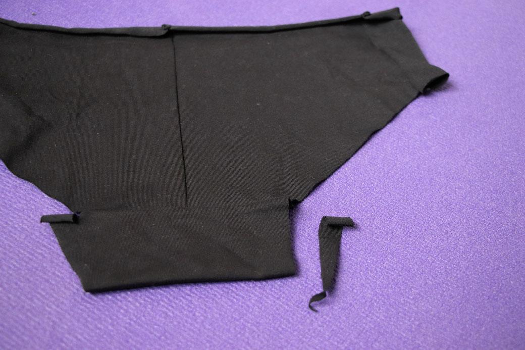 How to sewZero-Waste undies - first version  in progress - Zebraspider Eco Anti-Fashion