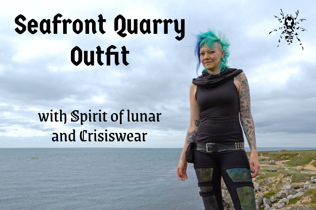 Seafront Quarry Outfit with Spirit of lunar and Crisiswear - Zebraspider Eco Anti-Fashion