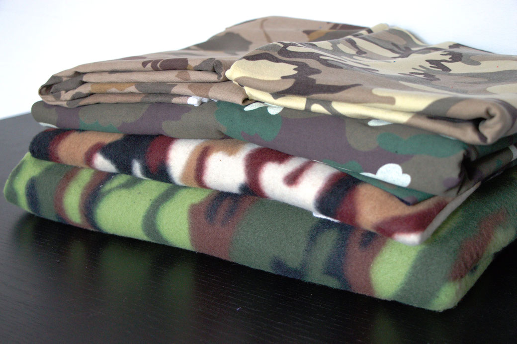 9 pros and cons about deadstock fabrics - camouflage prints - Zebraspider Eco Anti-Fashion