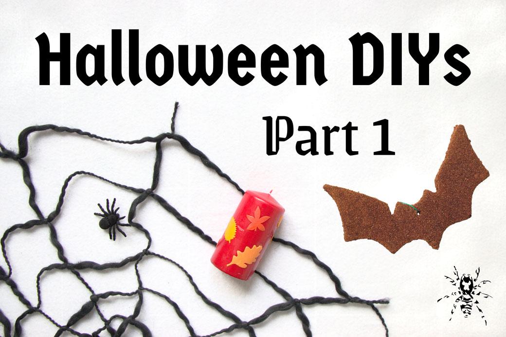 Halloween DIYs Part 1 - candles, spiderwebs and bats- Zebraspider Eco Anti-Fashion