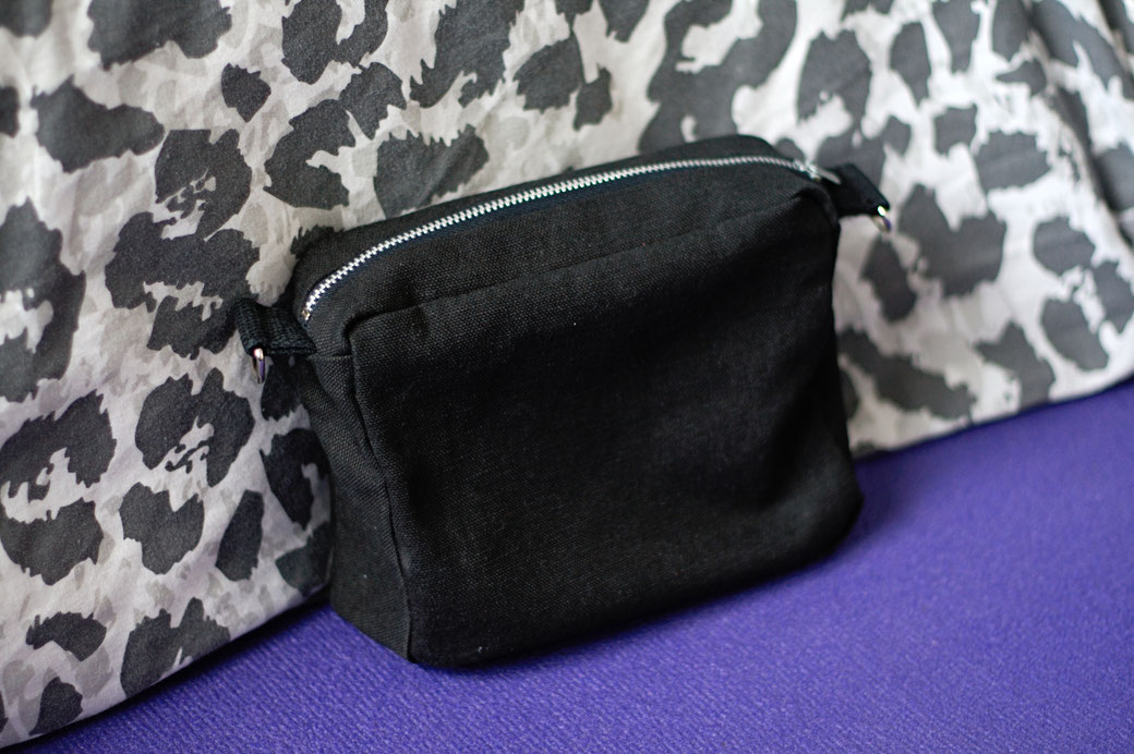 What I've been up to in May - new organic belt bag prototype - Zebraspider Eco Anti-Fashion