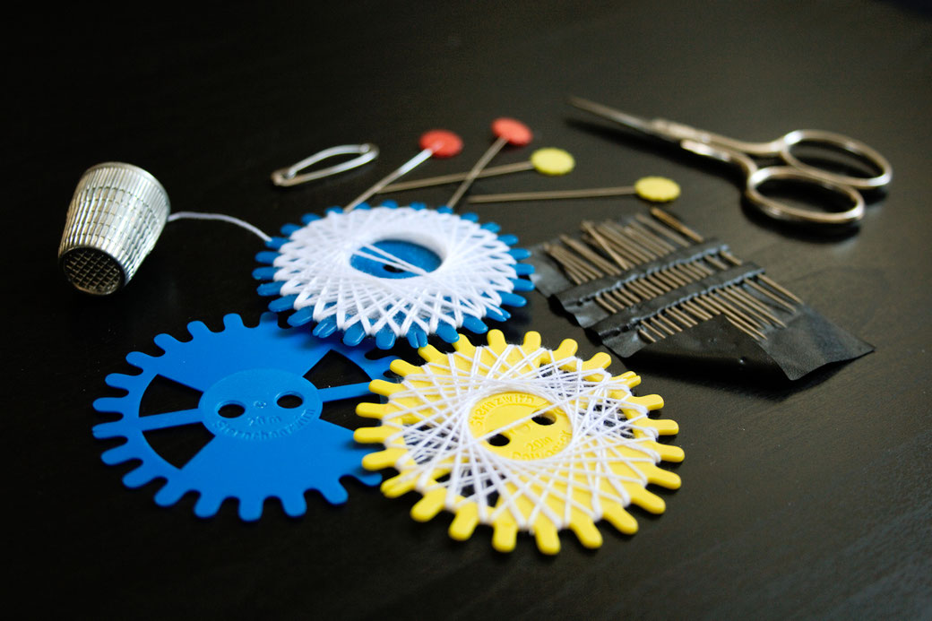 5 ways to sew on patches - Thread, twine, needles, pins, scissors and thimble - Zebraspider Eco Anti-Fashion Blog
