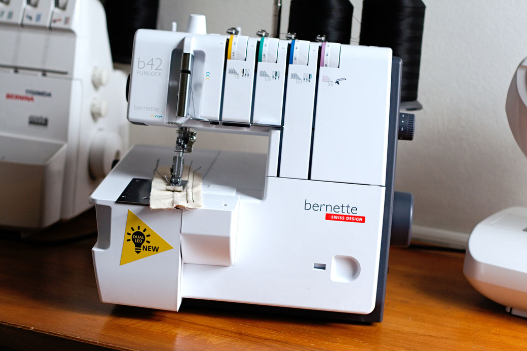 What I've been up to in May - my new Bernette B42 Funlock coverstitch machine - Zebraspider Eco Anti-Fashion