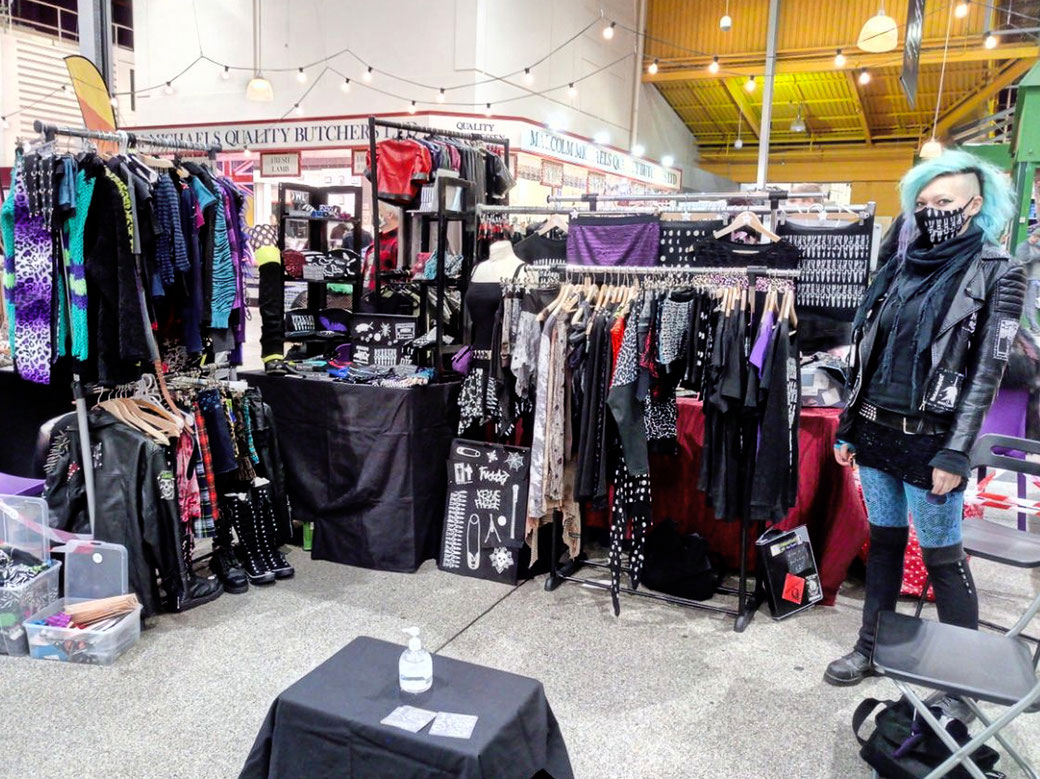 What and how I've been doing 3 - Gothic Market Leeds 2020 - Zebraspider DIY Anti-Fashion Blog