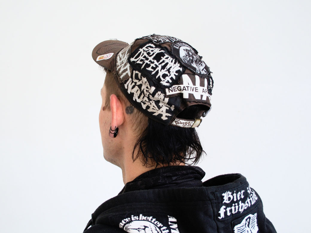 5 Unusual things that look better with patches - patched up baseball hat - Zebraspider Eco Anti-Fashion Blog