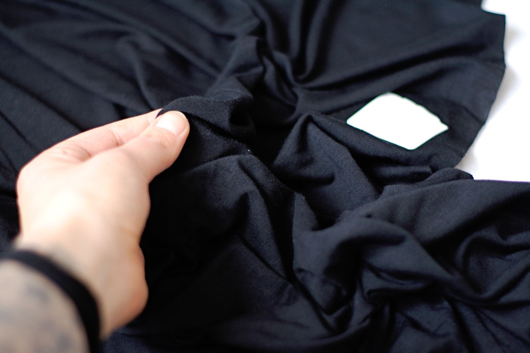 5 Reasons bamboo clothing is not as eco-friendly as you think - black bamboo viscose jersey fabric - Zebraspider Eco Anti-Fashion Blog