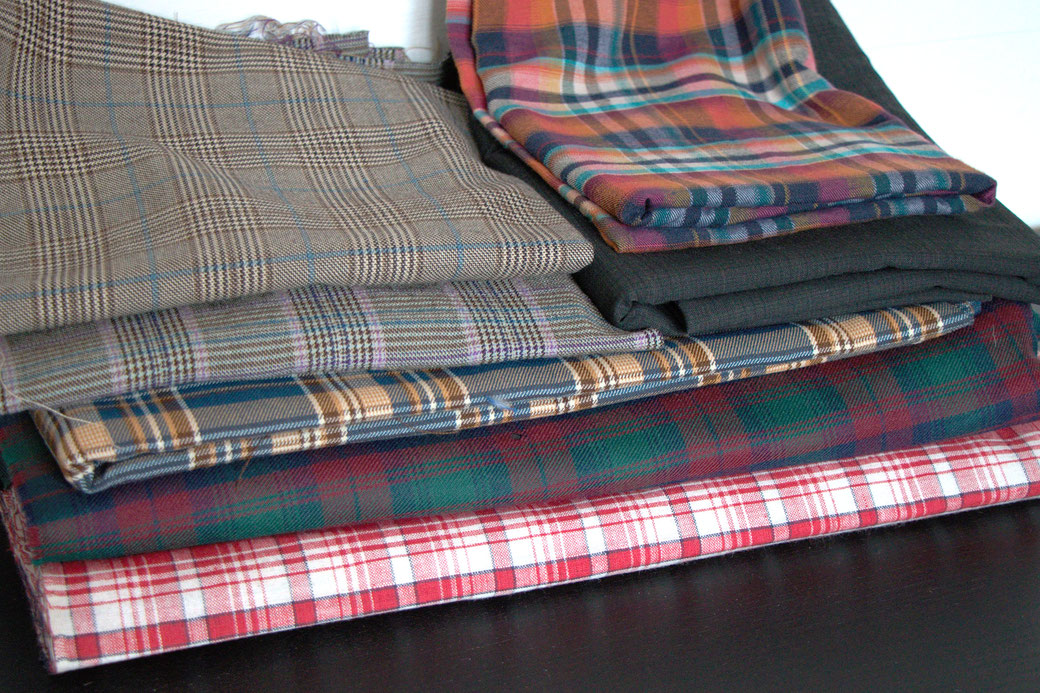 9 pros and cons about deadstock fabrics - plaids and tartan - Zebraspider Eco Anti-Fashion