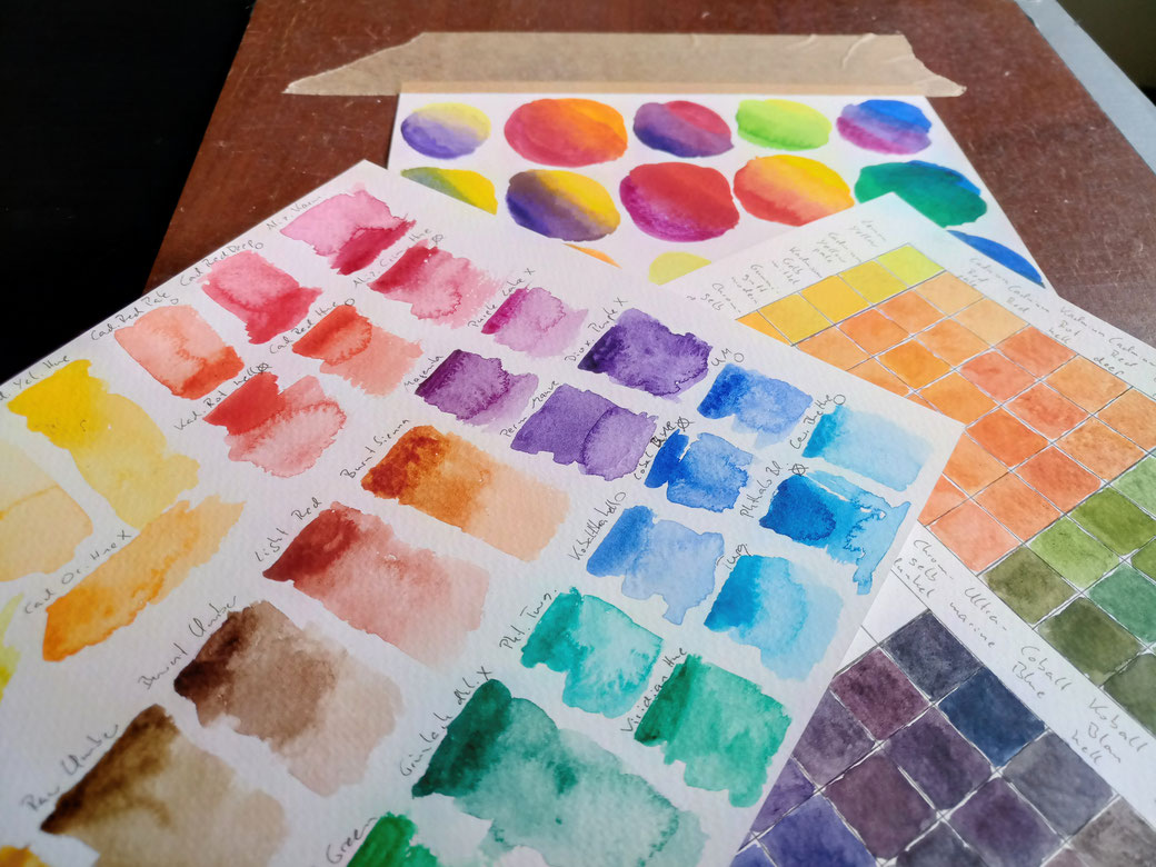 What and how I've been doing - watercolour swatches - Zebraspider DIY Anti-Fashion Blog