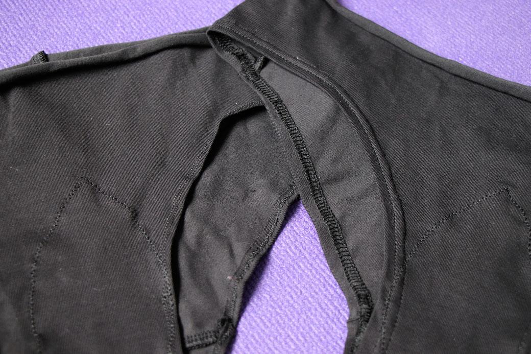How to sewZero-Waste undies - comparison twin needle to coverstitch hem -  Zebraspider Eco Anti-Fashion